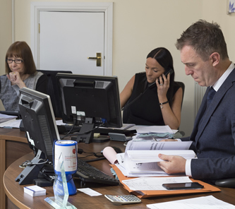 Fiveways Insurance employees at work